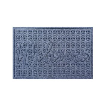 Dotted Welcome Eco-Poly Multi-Use Doormat