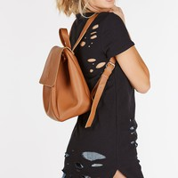 On The Go Faux Leather Backpack