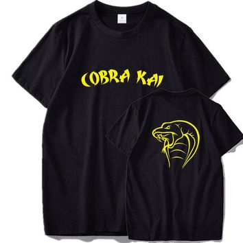 Anime T-shirt graphics Cobra Kai T shirt Snake King Original Design Anime Tee Shirt Homme 100% Cotton Breathable Cool Shirts EU Size AT_56_4