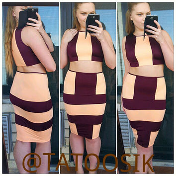 "Bodycon ""THRILLER"" 2 piece set"