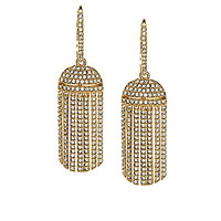 Nadri Gold Pave Tassel Drop Earrings