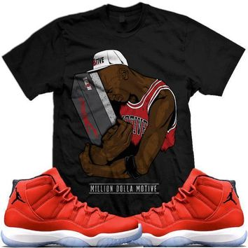 Jordan 11 Win Like 96 Gym Red Sneaker Tees Shirt - NEW SNEAKERS