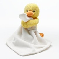 Carters Plush Duckie Duck Cuddle Security Blanket with Rattle