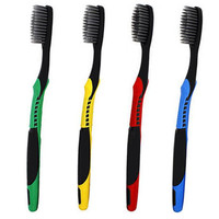 4Pcs Double Ultra Soft Toothbrush Bamboo Charcoal Nano Brush Oral Clean Care