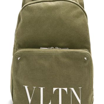 Camo Green Utility Backpack by Valentino