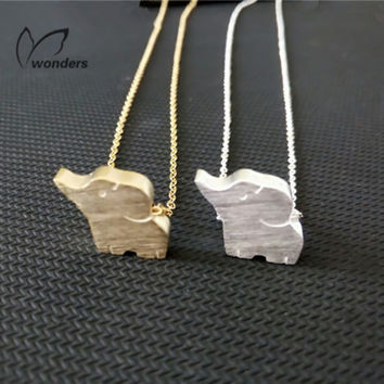 Cute Elephant Gold/Silver/Rose Gold Chain Charm Necklace