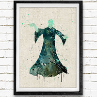 Lord Voldemort, Harry Potter Watercolor Art Print, Baby Room, Nursery Wall Art, Home Decor, Not Framed, Buy 2 Get 1 Free!