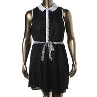 Kensie Womens Perforated Sleeveless Wear to Work Dress
