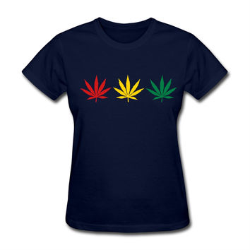weed Woman  Softy Fabric T-Shirts Practical Women funny  O Collar Short-Sleeves best t shirts online