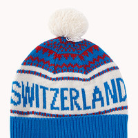 Switzerland Pom Pom Beanie