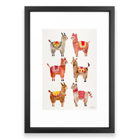Society6 Alpacas Framed Print