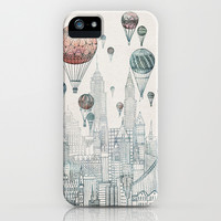 Voyages Over New York iPhone & iPod Case by David Fleck
