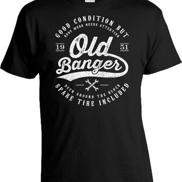 Funny Birthday Gifts For Men 65th Birthday Shirt Birthday Present For Him Custom Year 65 Years Old Banger 1951 Birthday Mens Tee DAT-395