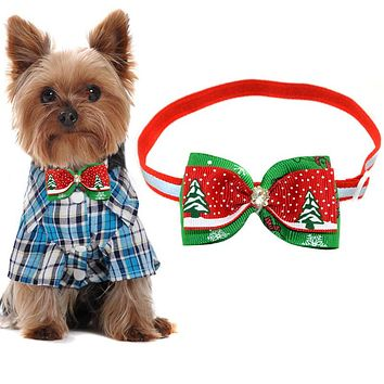 2017 Dog and Puppies adjustable Bow Ties Christmas Accessories