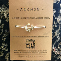 Tibetan wish bracelet: Anchor
