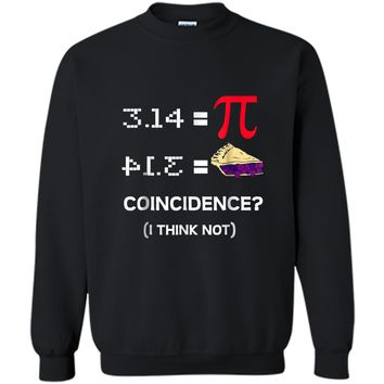 Pi Equals Pie Funny Math Pun Pi Day  Printed Crewneck Pullover Sweatshirt