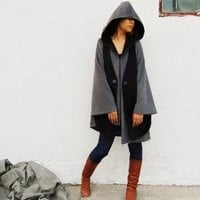 Castle in the Sky cashmere hoodie coat Y1023 by idea2lifestyle