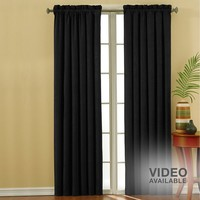 eclipse Faux Suede Thermaback Blackout Curtain - 42'' x 84''