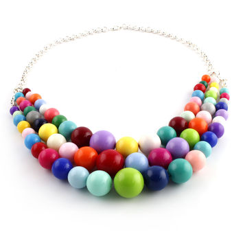 Multi-Strand Party Necklace
