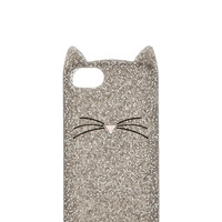 kate spade new york Glitter Cat iPhone 5 Case in Gray