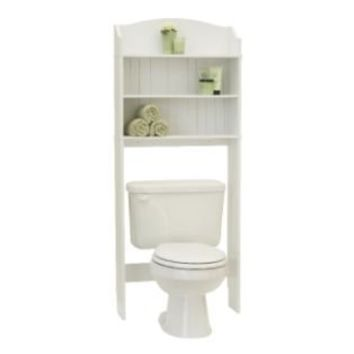 Bath space saver white essential from kmart mr mrs - Space saver furniture for bathroom ...
