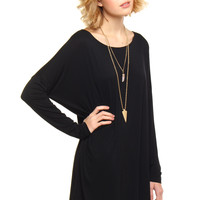 Bamboo Scoop Tunic - Black