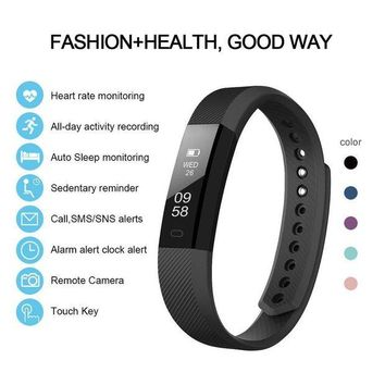 ONETOW LETSCOM Fitness Tracker HR, Activity Tracker with Step Counter and Calorie Counter Watch Pedometer, Slim Heart Rate Monitor Watch for Kids Women Men