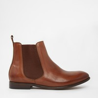 H By Hudson Wexford Tan Leather Chelsea Boots