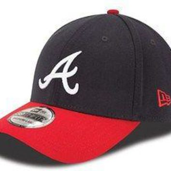 Atlanta Braves New Era MLB 39THIRTY Team Classic Stretch Fit Flex Cap Hat 3930
