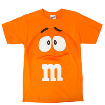 M&M's Candy Character Face T-Shirt - Youth - Orange - Large