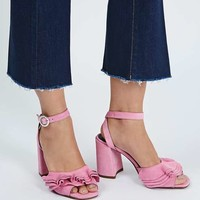 REAL Suede Frill Sandals