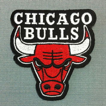 Patch Chicago Bulls Logo NBA Jordan Basket Ball US Américain USA Sport Ecusson Brodé Applique Badge : Déco, Customisation Textile par thaicraftvillage