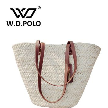 Beach bags W.D.POLO Straw