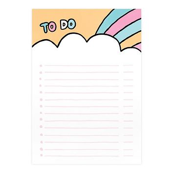 To Do Rainbow A5 Notepad [Ohh Deer]
