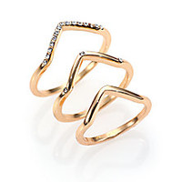 ABS by Allen Schwartz Jewelry - Chevron Band Ring Set - Saks Fifth Avenue Mobile