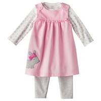 JUST ONE YOU® Made by Carters Newborn Girls' 3 Piece Set - Pink/White