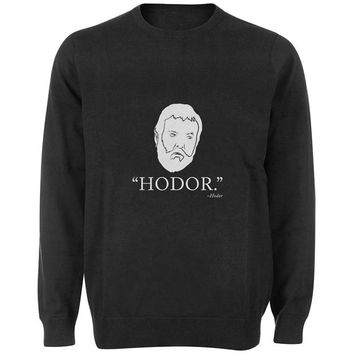 hodor sweater Black and White Sweatshirt Crewneck Men or Women for Unisex Size with variant colour