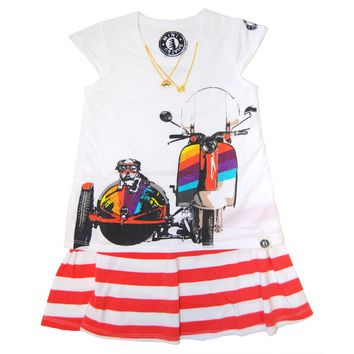 Puppy Sidecar Scooter Dress by: Mini Shatsu
