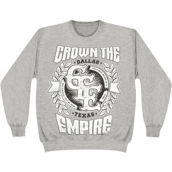 Crown The Empire Men's  Hope Sweatshirt Grey Rockabilia