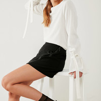 J.O.A. Striped Bell-Sleeve Blouse | Urban Outfitters