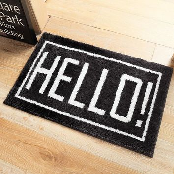 Autumn Fall welcome door mat doormat Microfiber Water Absorb Rubber Anti Slip Black White Cat Hello Front Bathroom  For Entrance s Entry Outdoor Funny AT_76_7