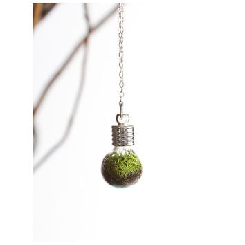 Terrarium Globe Necklace - With Roots