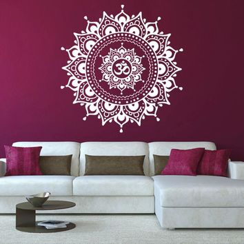 Removable Mandala Flower Indian Bedroom Living Room Wall Stickers Decal