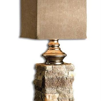 Andean Layered Stone Buffet Lamp By Uttermost