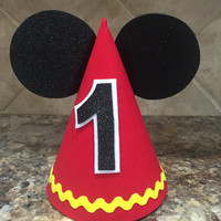 Mickey Mouse Birthday Hat And Minnie First Twins 1st Outfit