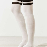 Out From Under Varsity Striped Thigh High Sock | Urban Outfitters
