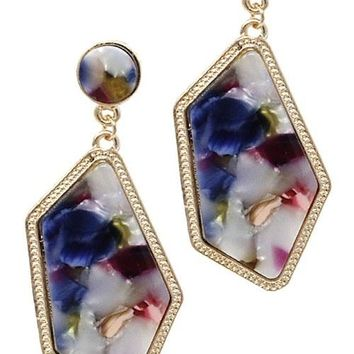 Stone Style Fashion Drop Post Earrings