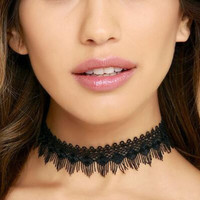 Black lace choker necklace + Gift Box