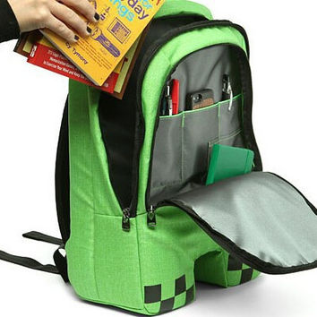 2015 HOT High Quality creeper backpacks school bags,minecraft backpack for unisex bolsas GAME Best Birthday Gifts