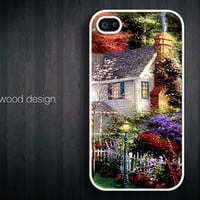 iphone 4 case iphone 4s case iphone 4 cover beautiful painting house design printing